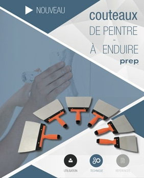 Outils Ciret -couteaux de peintre à enduire – Prep - Ciret