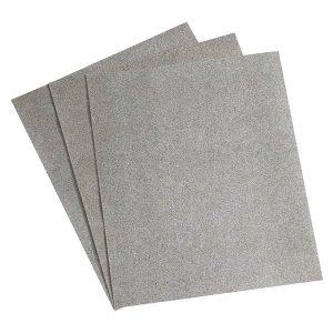 Lot de 3 Papiers Corindon - Oxyde d'alumine. Recommandé pour le bois