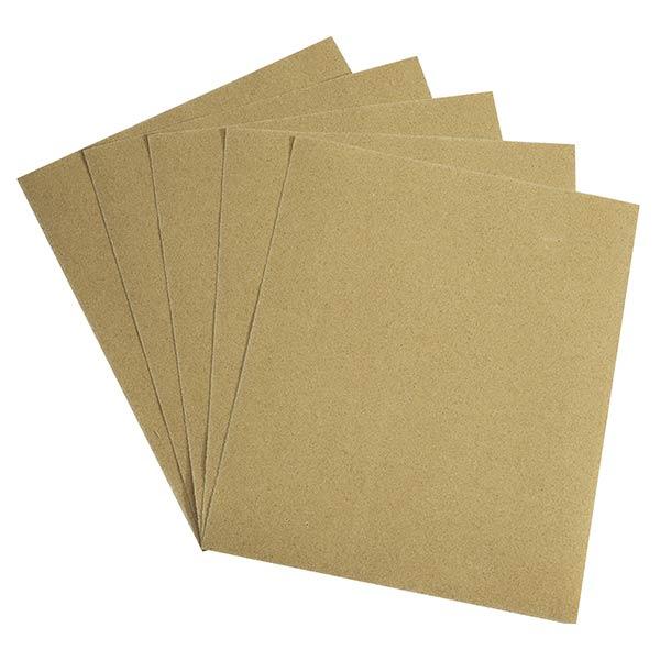 Lot de 5 Papiers Silex – Abrasif de base pour les travaux les plus courants. 280 mm x 230 mm. Présentation libre service. – Ciret