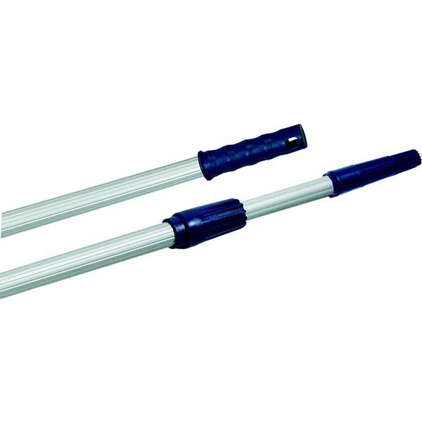 Perche Téléscopique Aluminium Pro – Embout conique pour monture à poignée creuse. Système de serrage par vis plastique. Aluminium nervuré