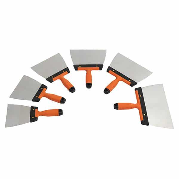 Couteaux à Enduire Lame Arrondie Inoxydable – Lame acier inoxydable arrondie pour accéder aux angles