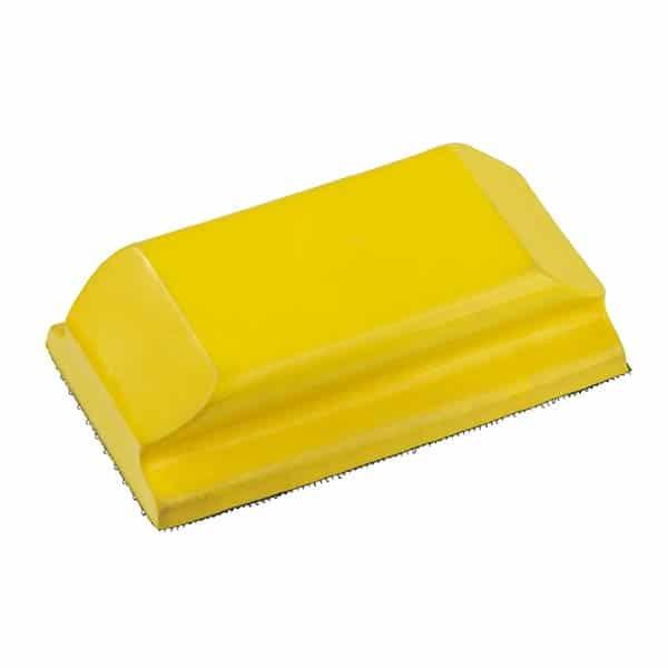 Cale à Poncer Jaune Auto-Agrippante Confort – Fixation de l'abrasif par système auto-agrippant type scratch. Prise en main confortable. – Ciret