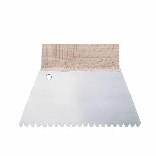 Couteau à Colle Trapézoidale – Lame acier verni. Manche bois naturel. – Ciret