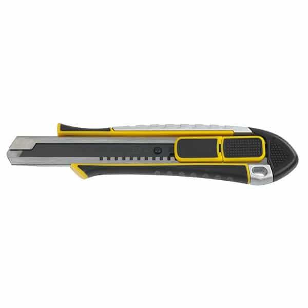 Cutter Bi-Matière 2 en 1 position sécurité 18 mm – 2 positions de curseur :