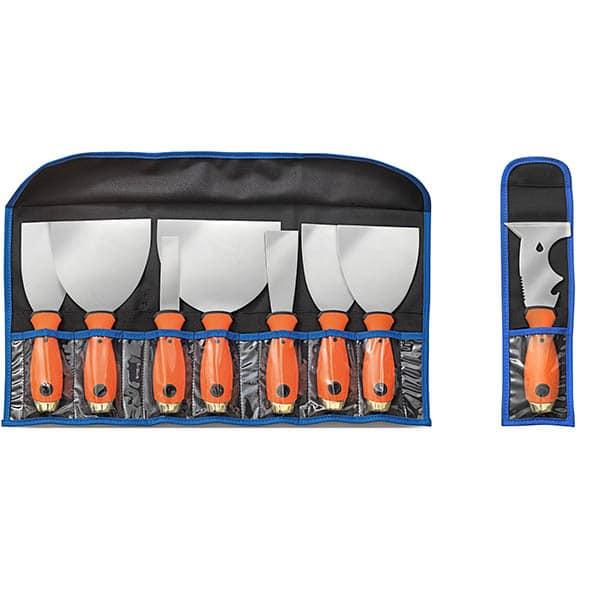 Trousse de 7 Couteaux Américain + 1 Mini Trousse de 1 Couteau Riflard – Trousse de 7 Couteaux Type Américain Acier Inoxydable Taille 2