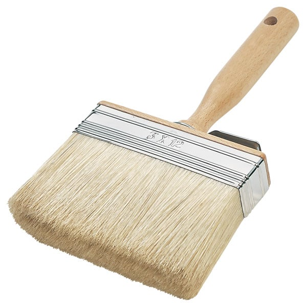 Brosse Rectangulaire Soies Blanches Stabilisées Extra 120×30 mm