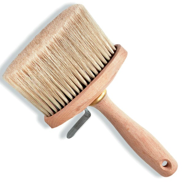 Brosse à Encoller Ovale Pures Soies Blanches 130 x 65 mm