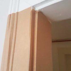 papier kraft cadre de porte