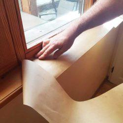 protection cadre fenêtre papier kraft